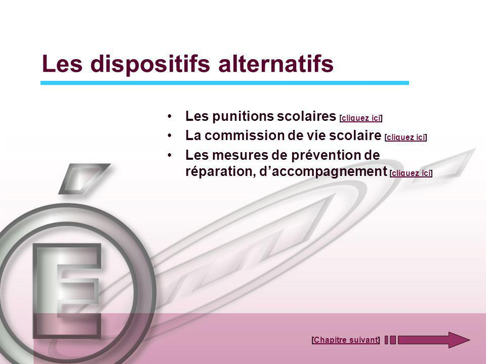 Les dispositifs alternatifs