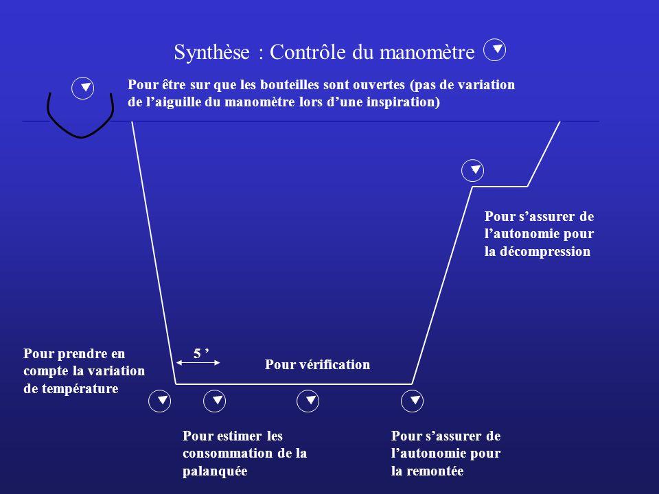 Synthèse : Contrôle du manomètre