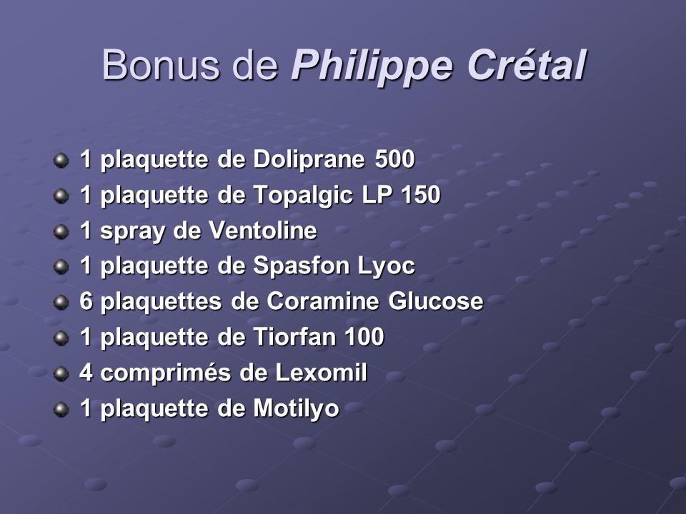 Bonus de Philippe Crétal