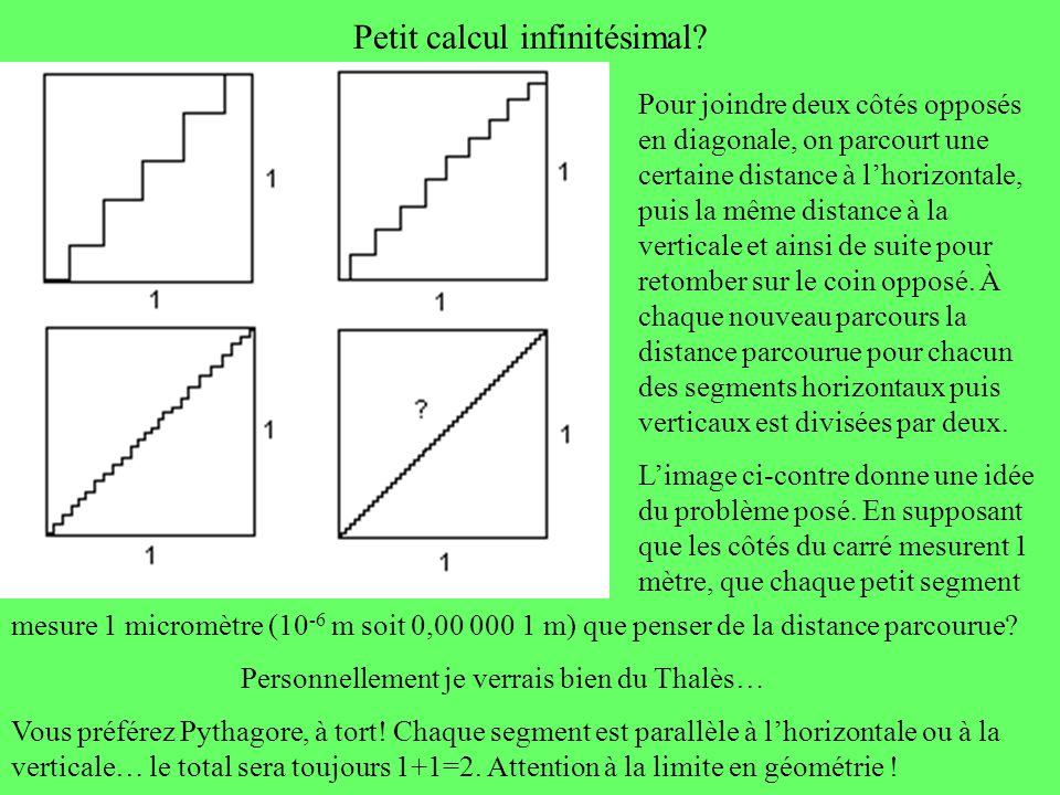 Petit calcul infinitésimal