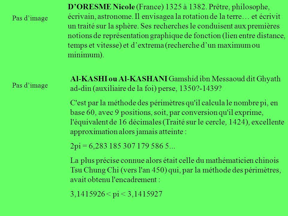 D'ORESME Nicole (France) 1325 à 1382