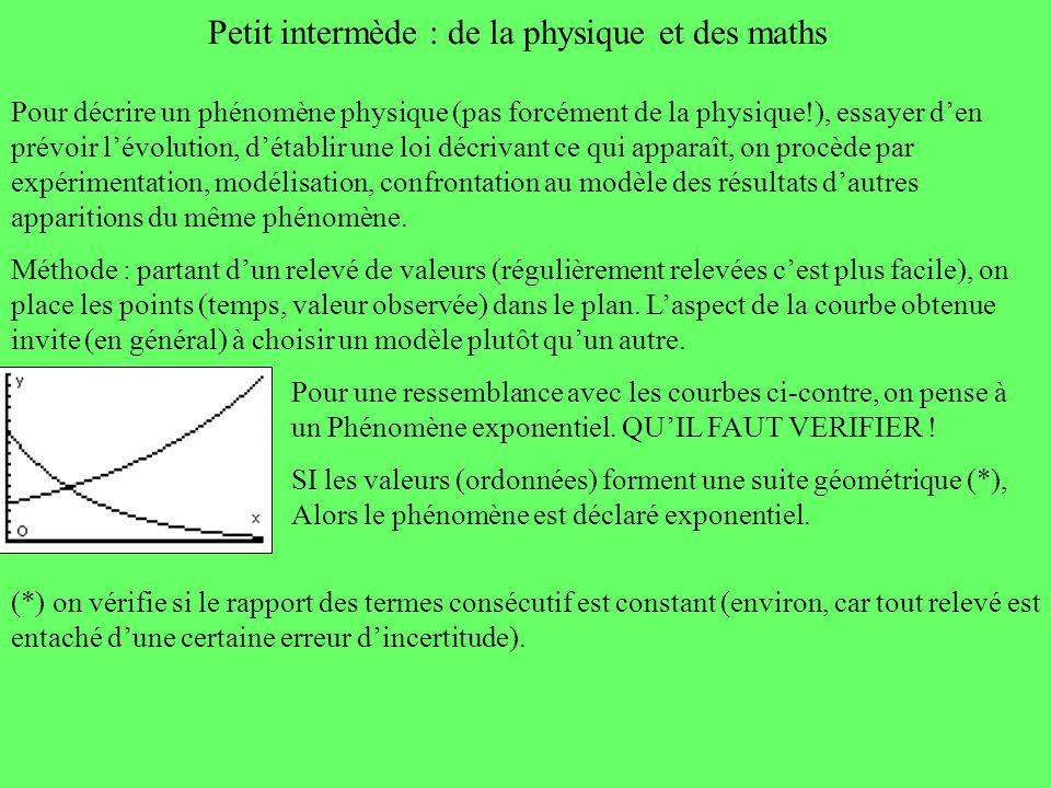 Petit intermède : de la physique et des maths