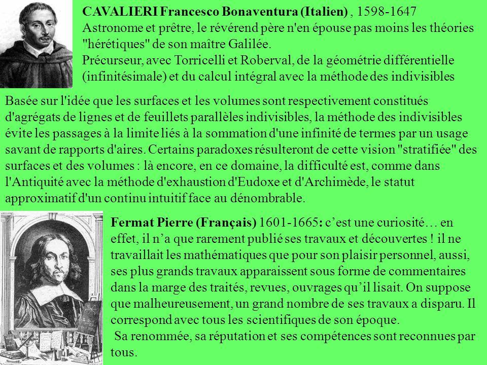 CAVALIERI Francesco Bonaventura (Italien) , 1598-1647