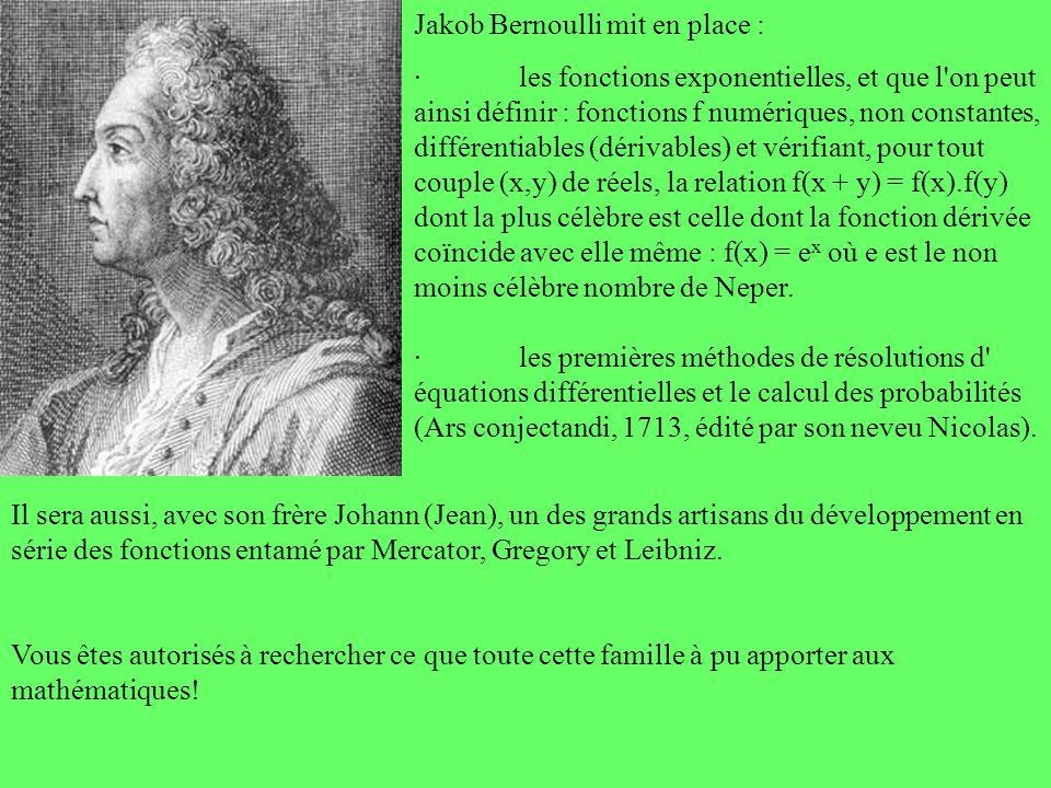 Jakob Bernoulli mit en place :