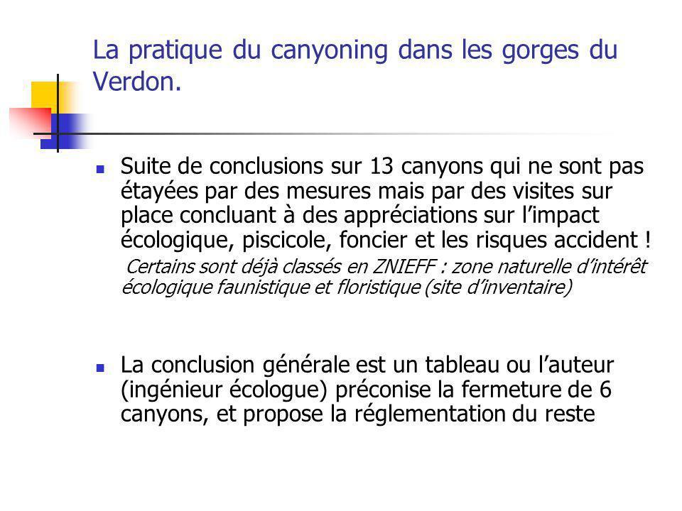La pratique du canyoning dans les gorges du Verdon.