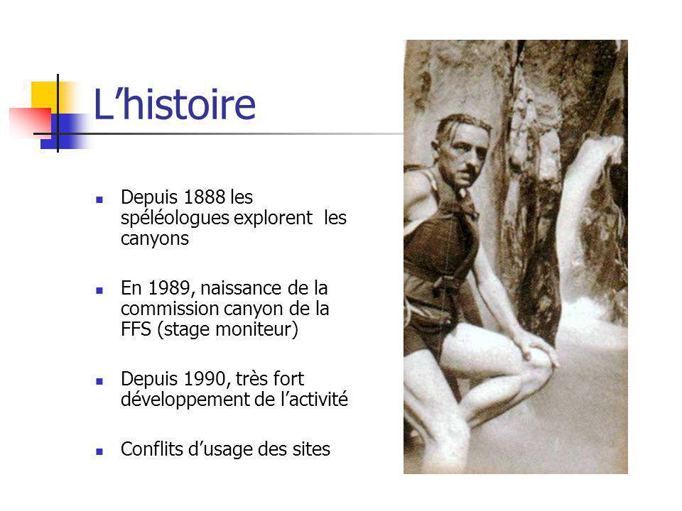 L'histoire Depuis 1888 les spéléologues explorent les canyons