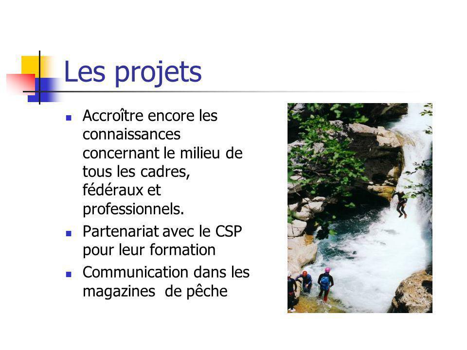 Les projets Accroître encore les connaissances concernant le milieu de tous les cadres, fédéraux et professionnels.