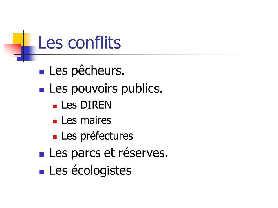 Les conflits Les pêcheurs. Les pouvoirs publics.