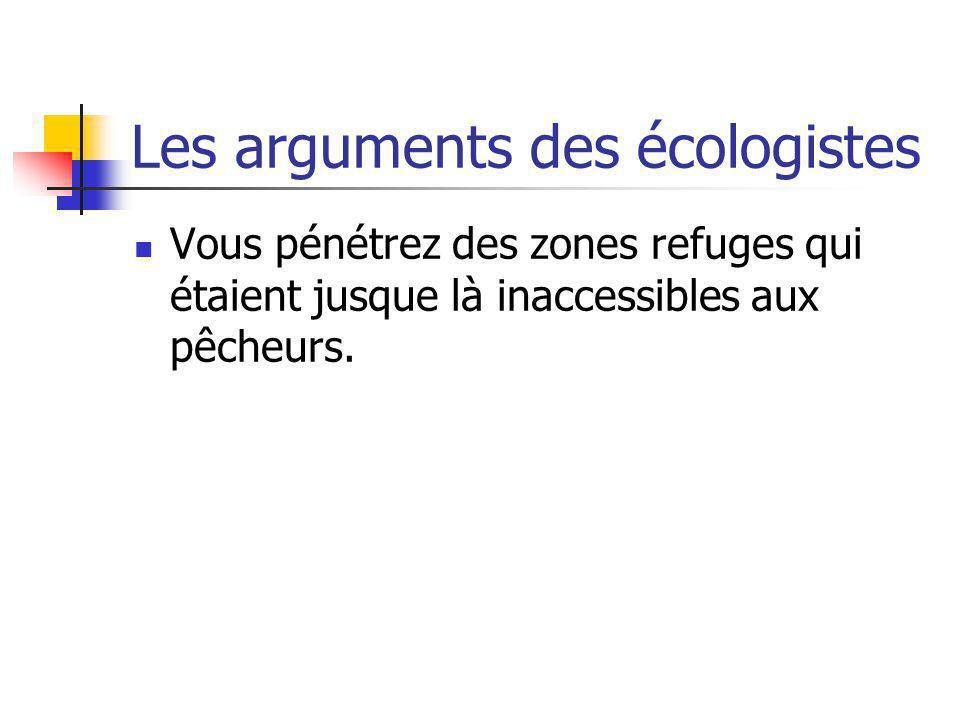 Les arguments des écologistes