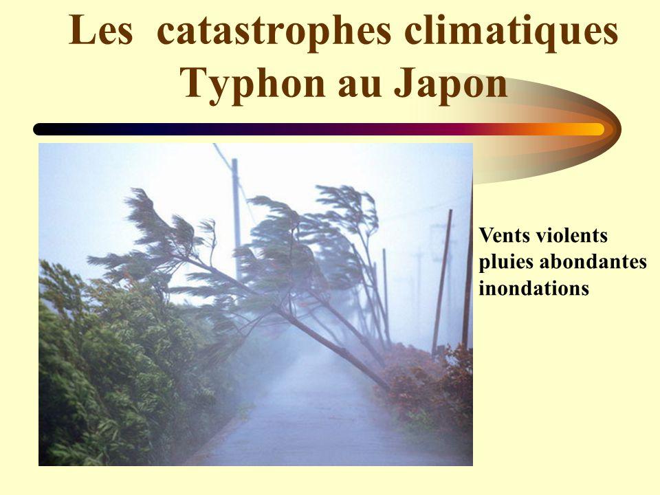 Les catastrophes climatiques Typhon au Japon