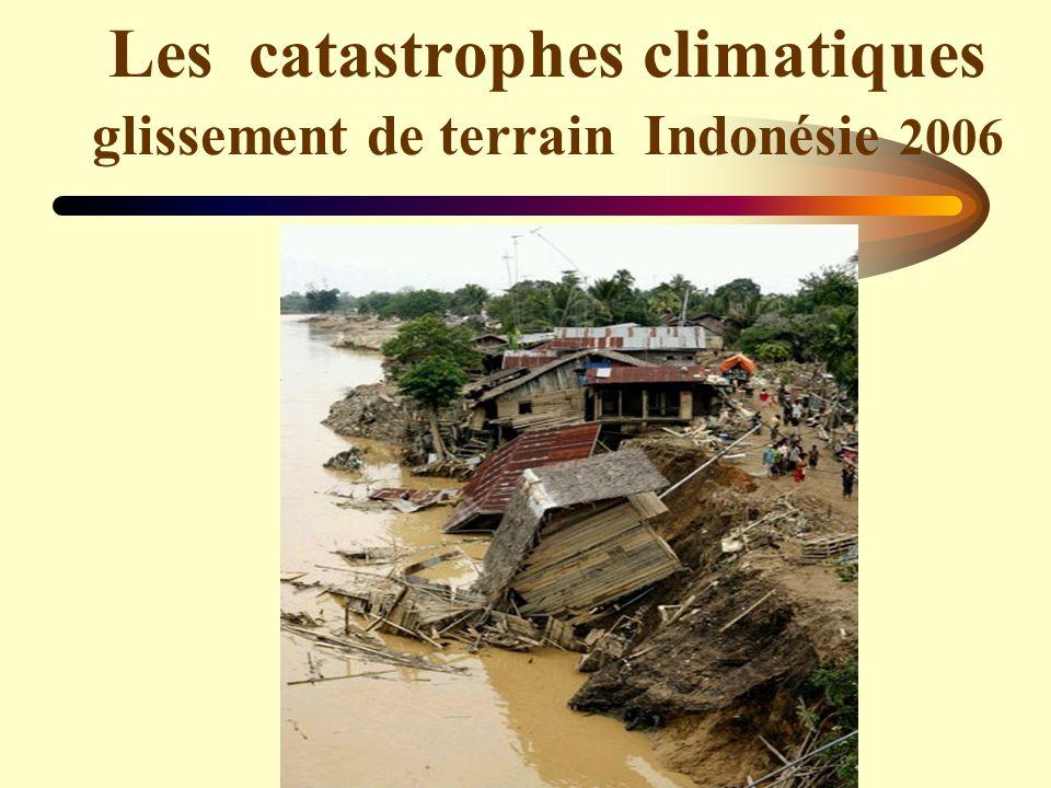 Les catastrophes climatiques glissement de terrain Indonésie 2006