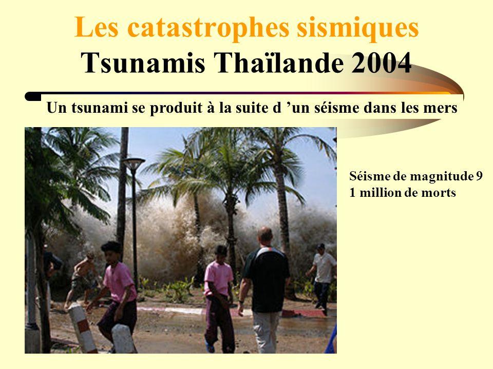 Les catastrophes sismiques Tsunamis Thaïlande 2004