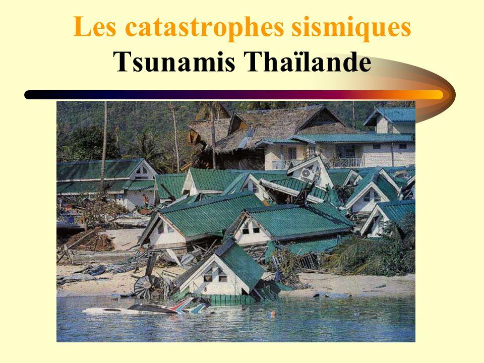 Les catastrophes sismiques Tsunamis Thaïlande