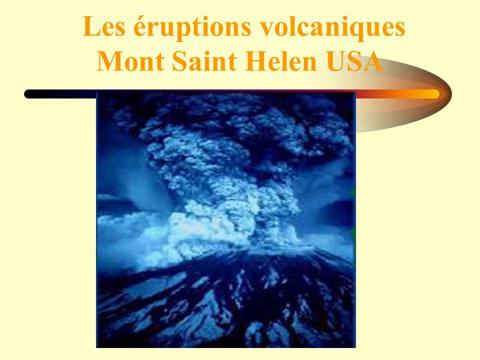 Les éruptions volcaniques Mont Saint Helen USA