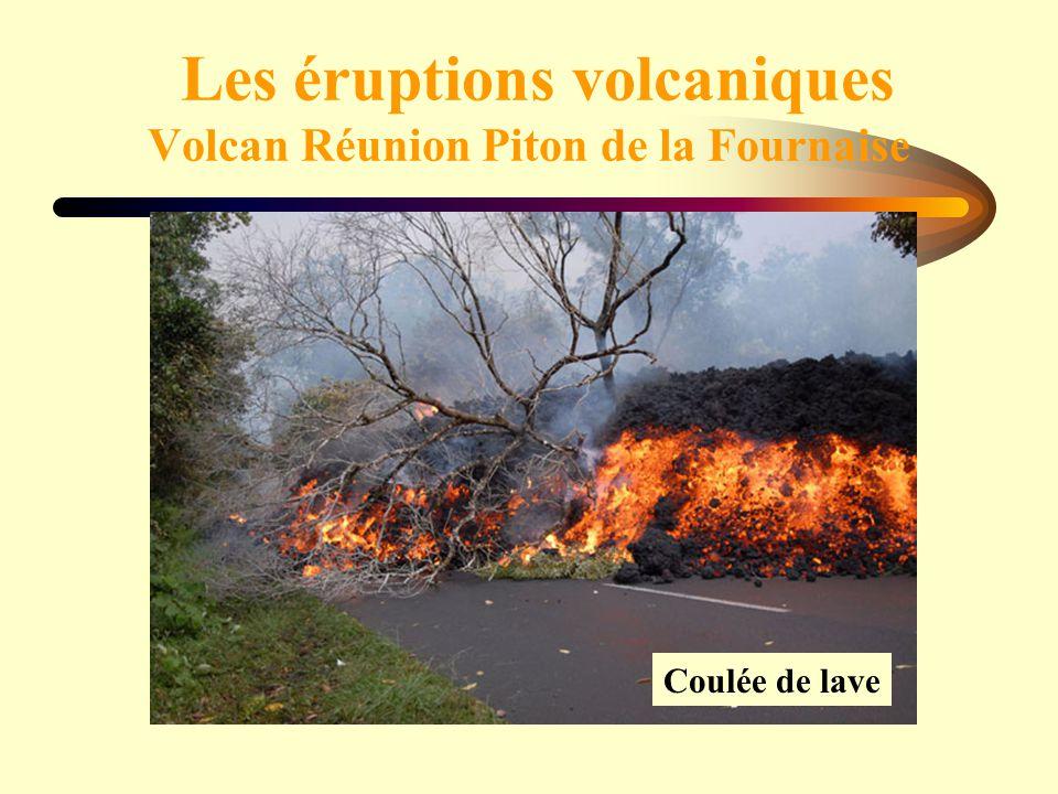 Les éruptions volcaniques Volcan Réunion Piton de la Fournaise