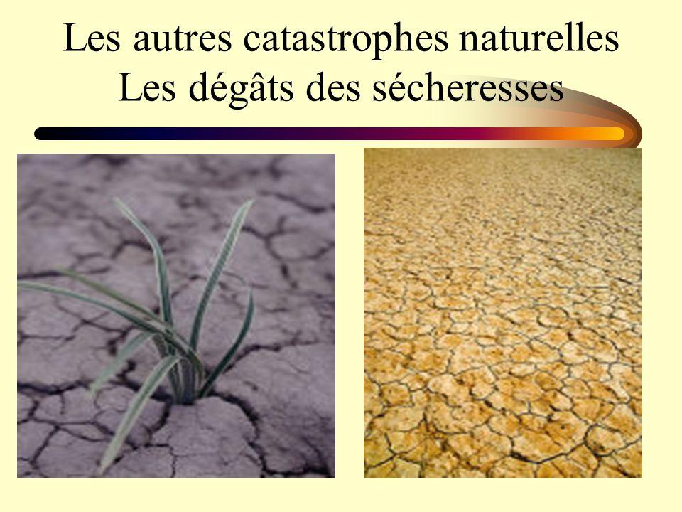 Les autres catastrophes naturelles Les dégâts des sécheresses