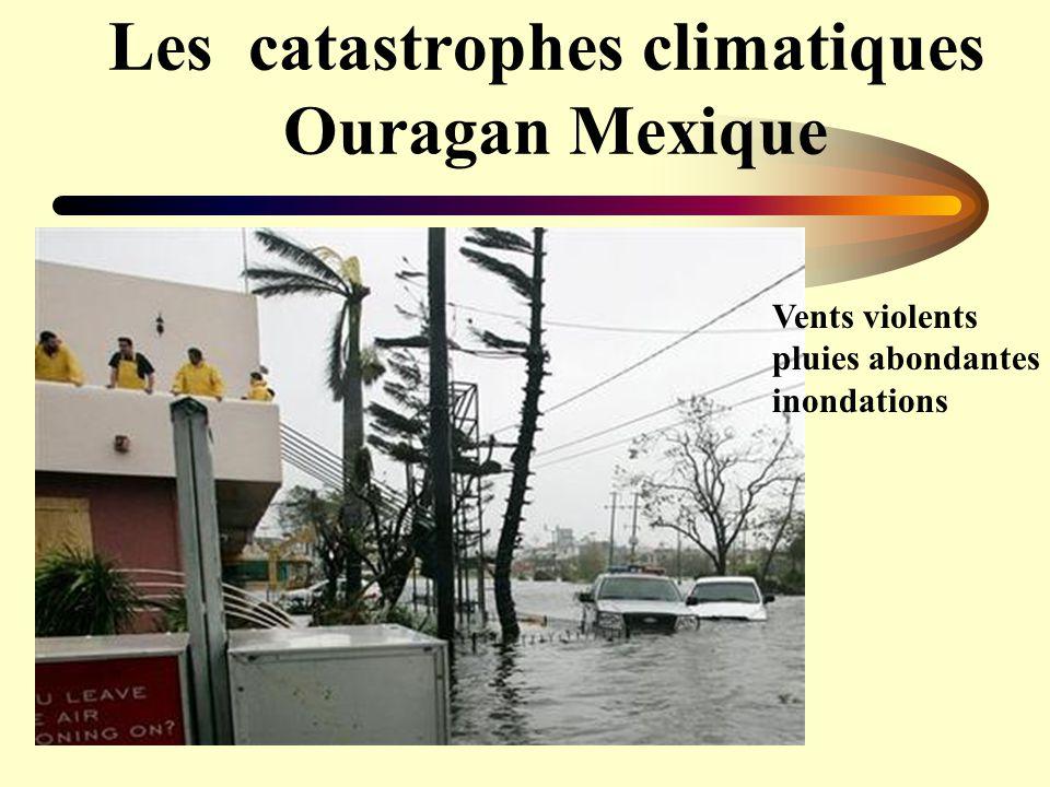 Les catastrophes climatiques Ouragan Mexique