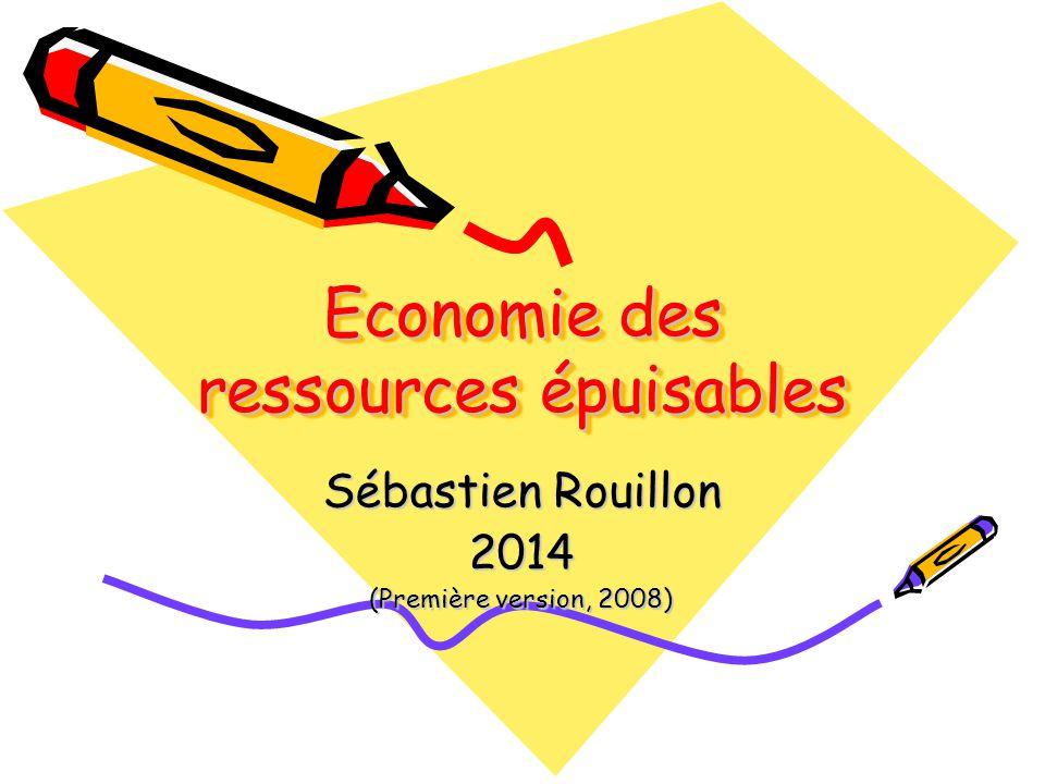 Economie des ressources épuisables