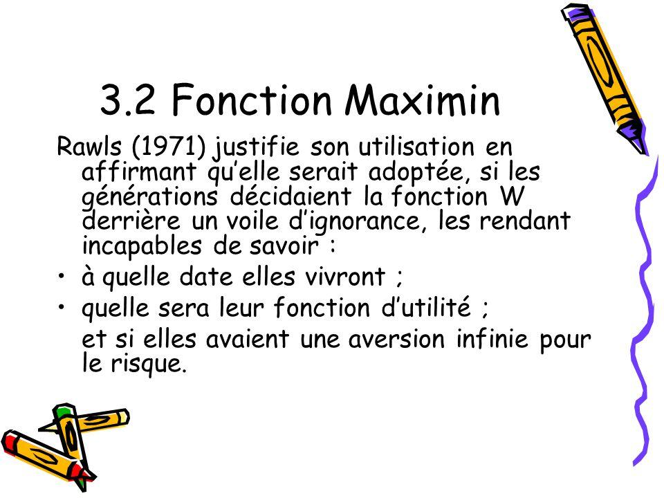 3.2 Fonction Maximin