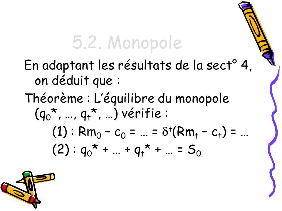 5.2. Monopole En adaptant les résultats de la sect° 4, on déduit que :