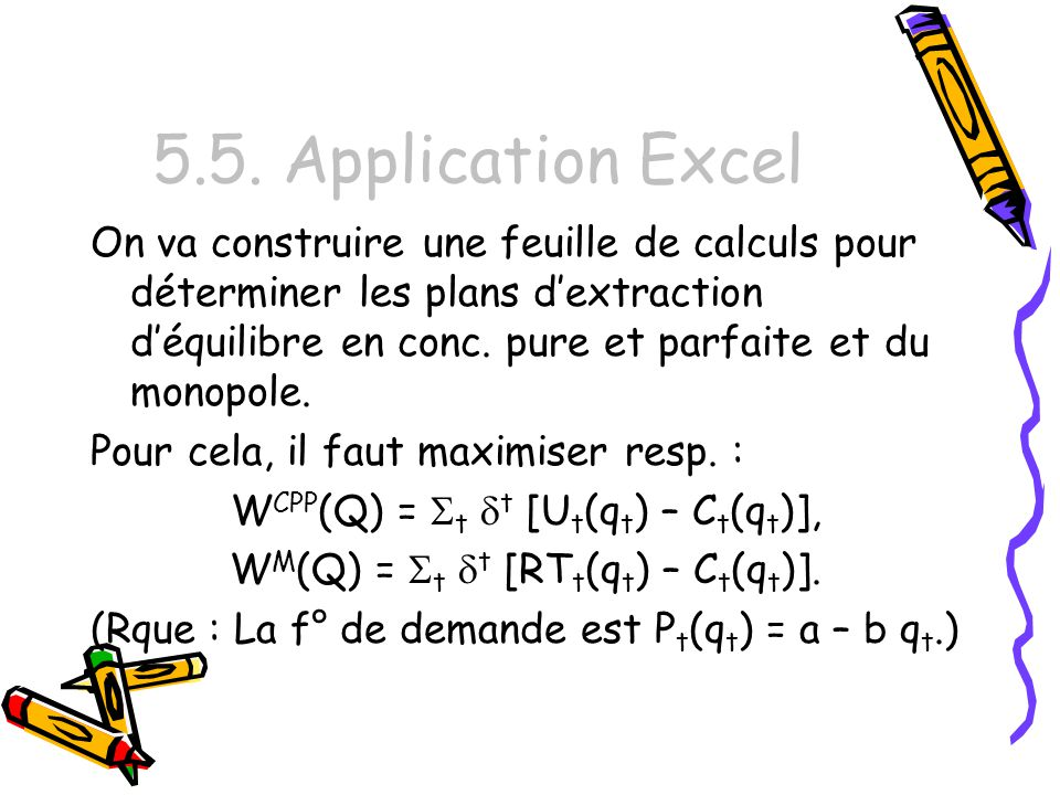 5.5. Application Excel