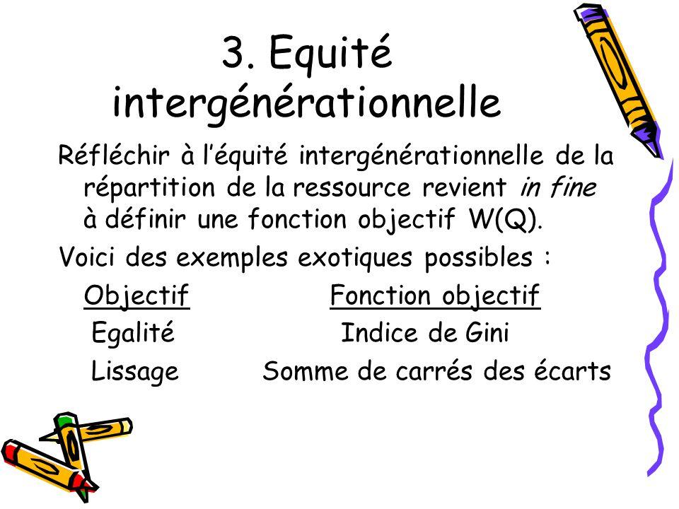 3. Equité intergénérationnelle