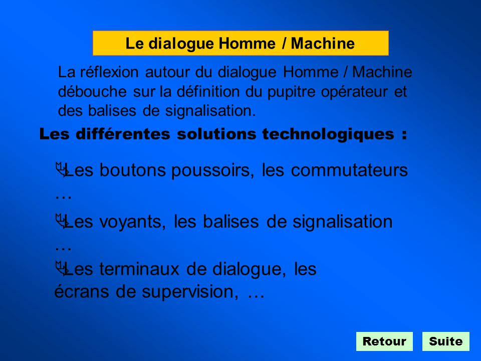 Le dialogue Homme / Machine