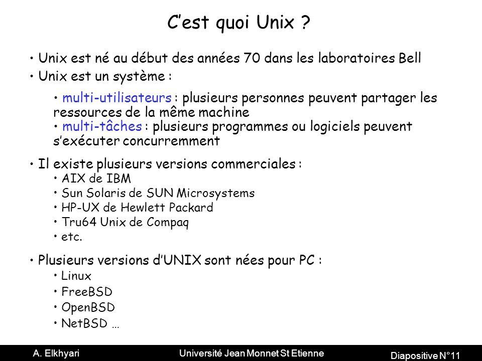 C'est quoi Unix Unix est né au début des années 70 dans les laboratoires Bell. Unix est un système :