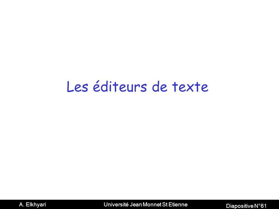 Les éditeurs de texte