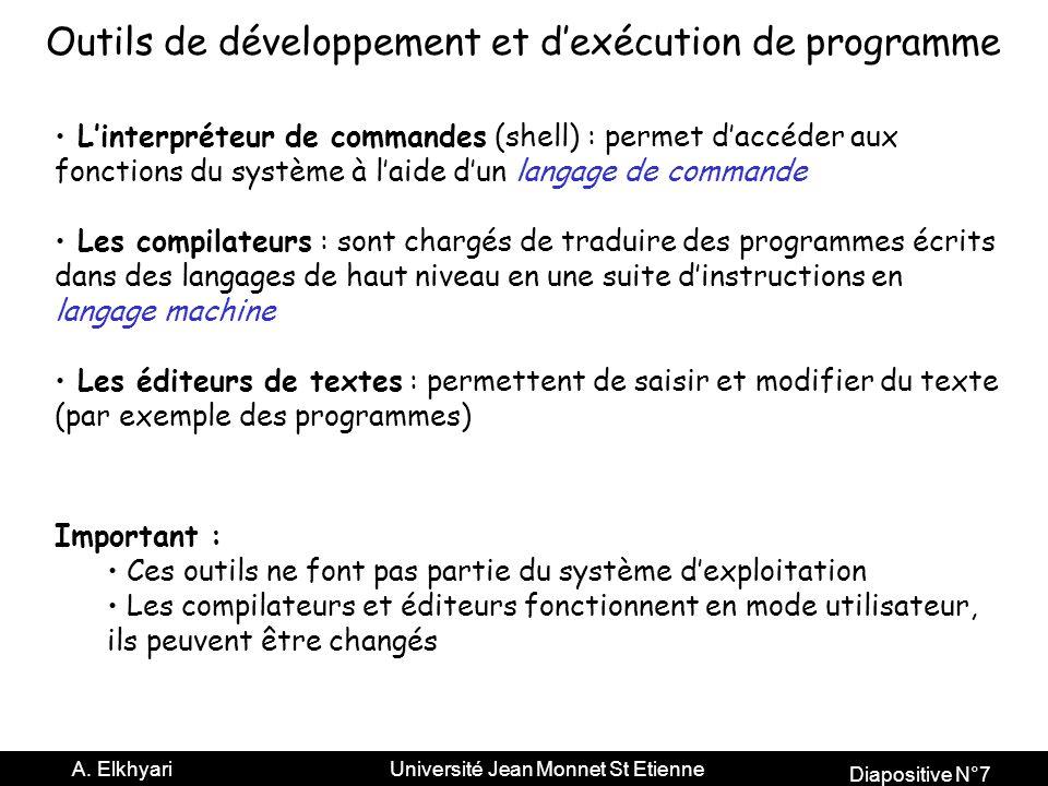 Outils de développement et d'exécution de programme