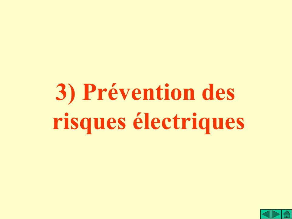 3) Prévention des risques électriques