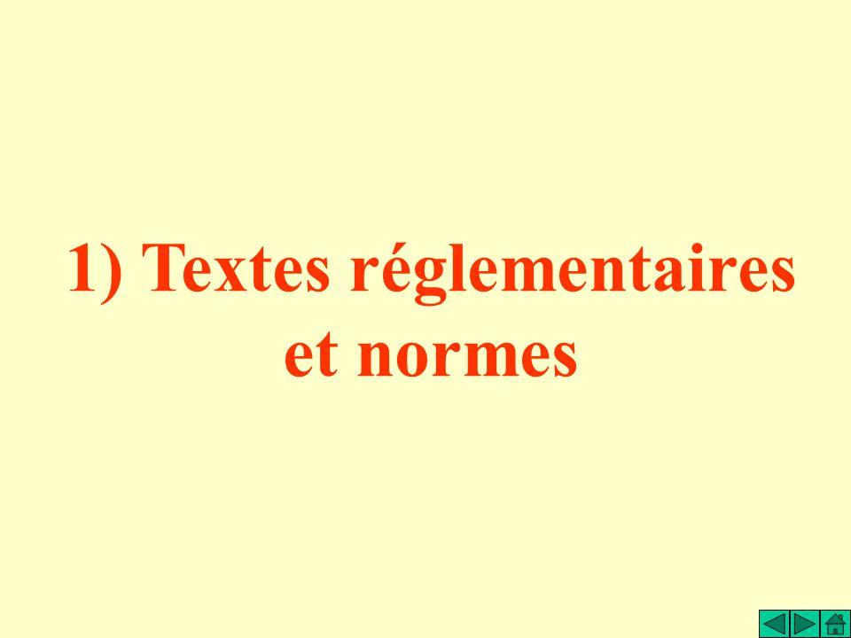 1) Textes réglementaires