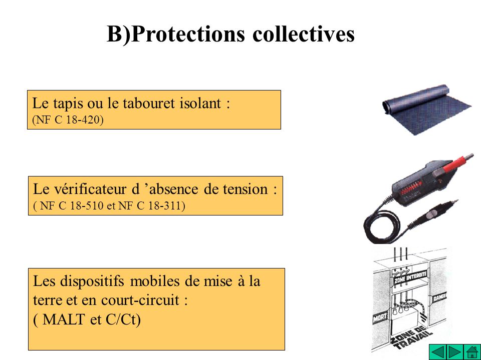 B)Protections collectives