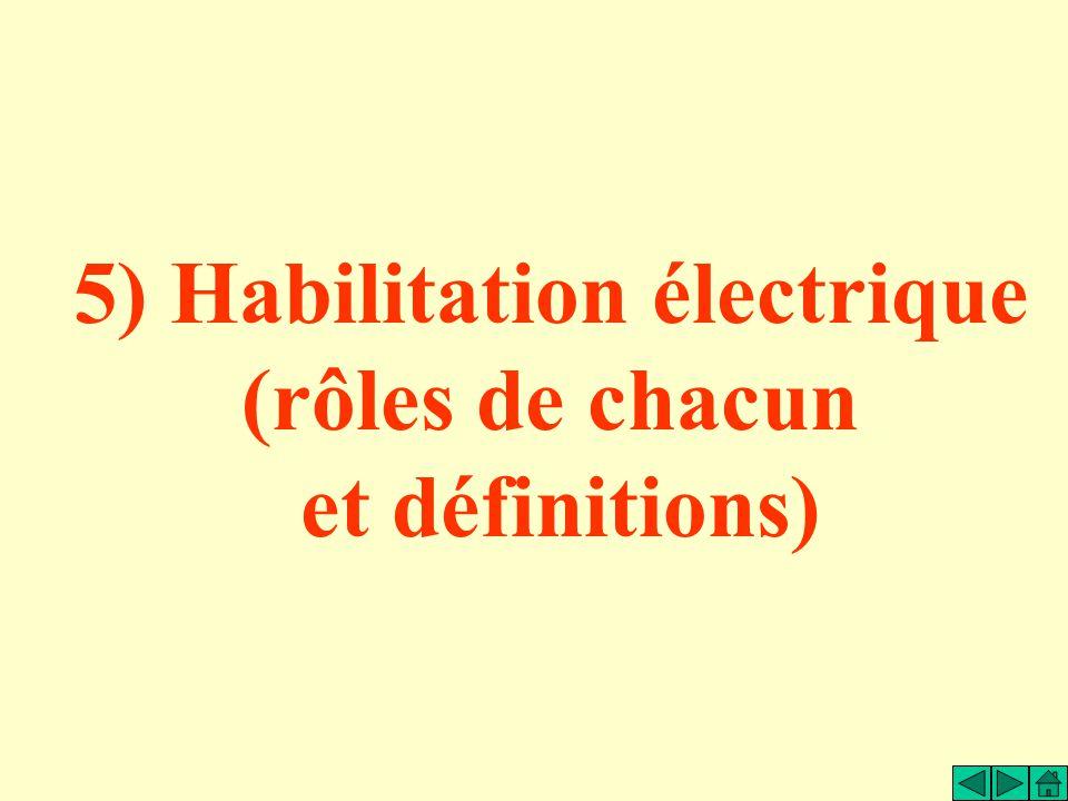 5) Habilitation électrique