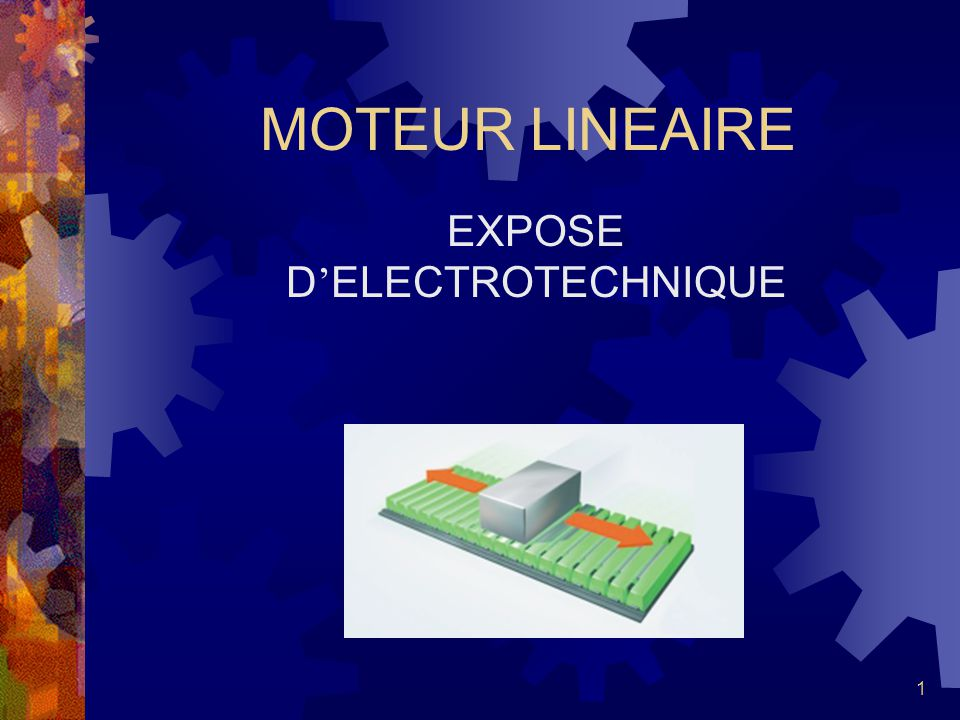 EXPOSE D'ELECTROTECHNIQUE