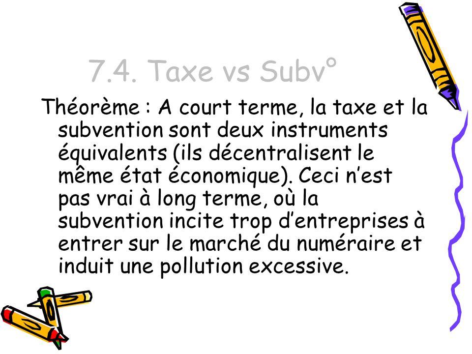 7.4. Taxe vs Subv°