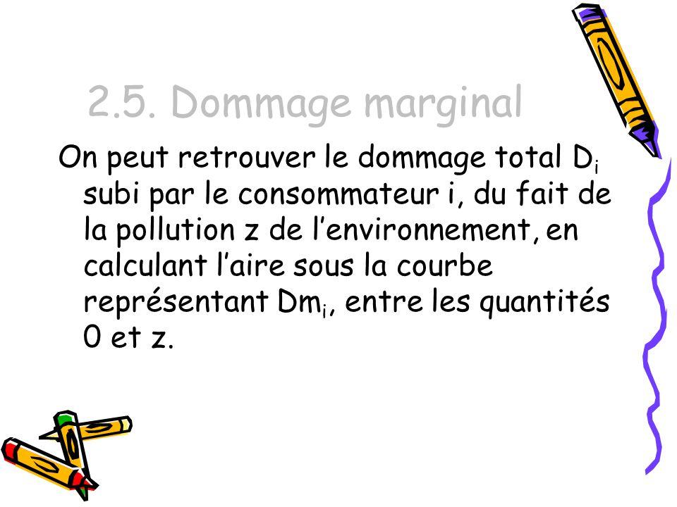 2.5. Dommage marginal