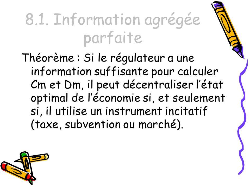 8.1. Information agrégée parfaite