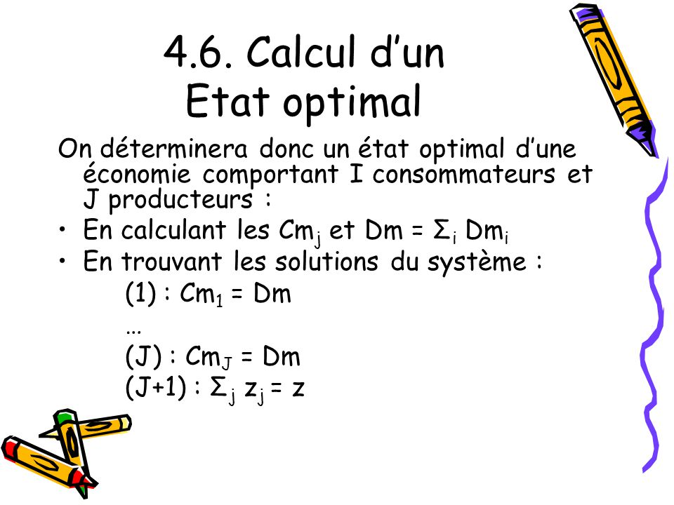 4.6. Calcul d'un Etat optimal