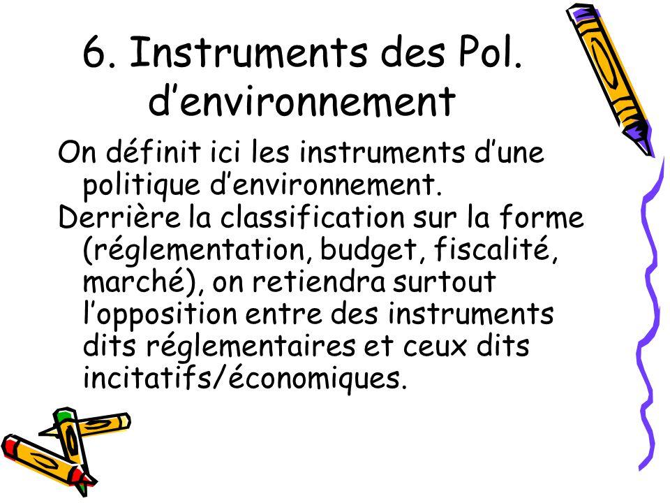 6. Instruments des Pol. d'environnement