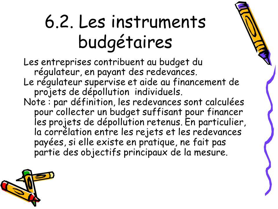 6.2. Les instruments budgétaires