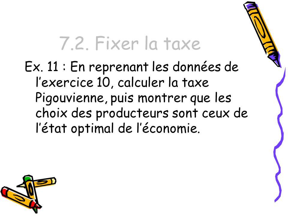 7.2. Fixer la taxe