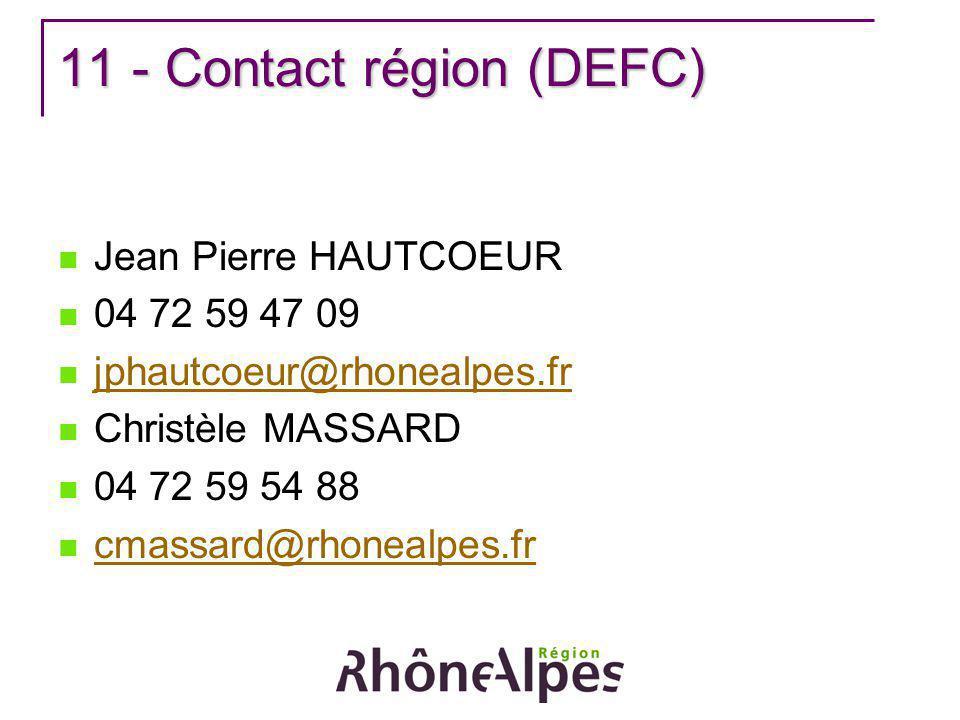 11 - Contact région (DEFC)
