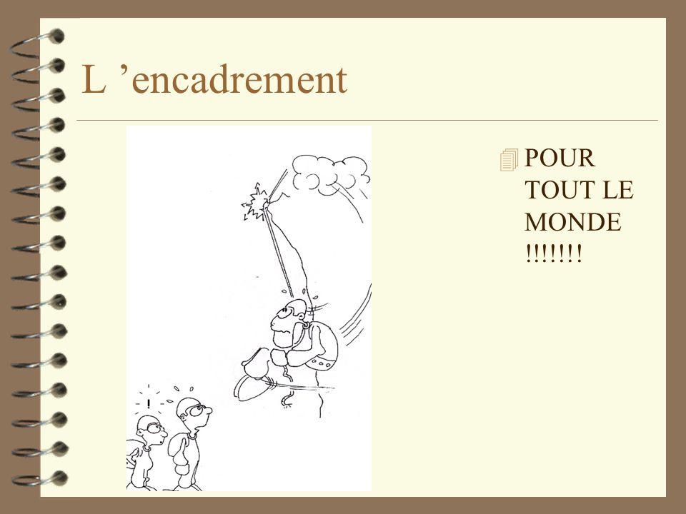 L 'encadrement POUR TOUT LE MONDE !!!!!!!