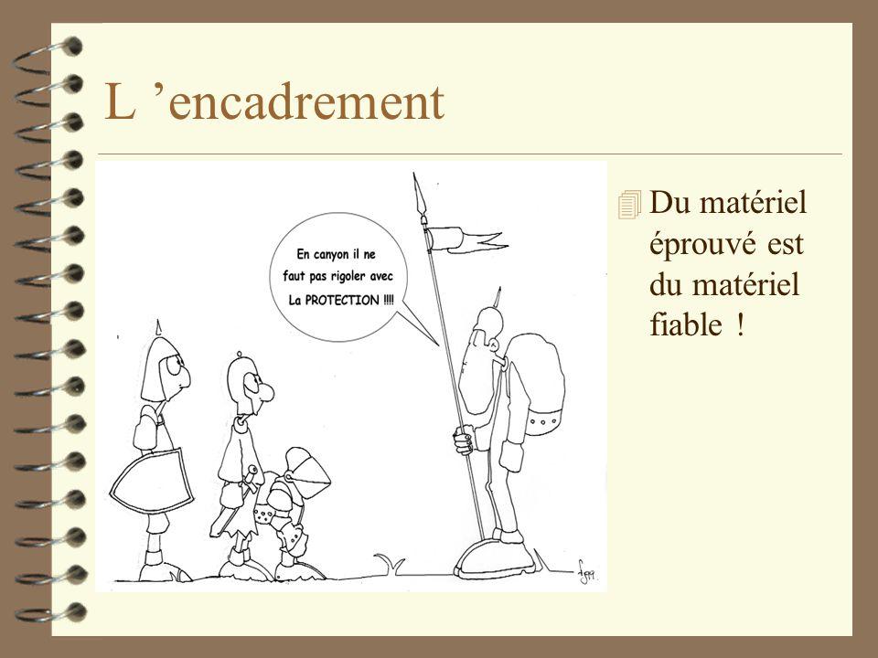 L 'encadrement Du matériel éprouvé est du matériel fiable !