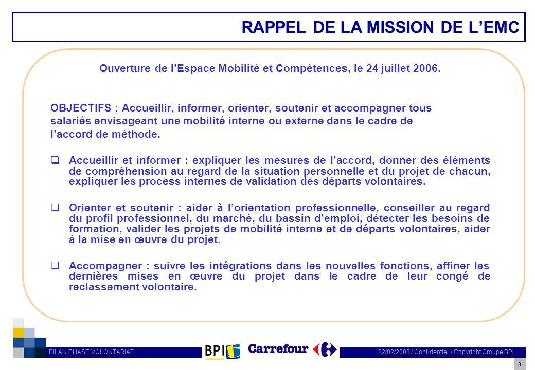 RAPPEL DE LA MISSION DE L'EMC