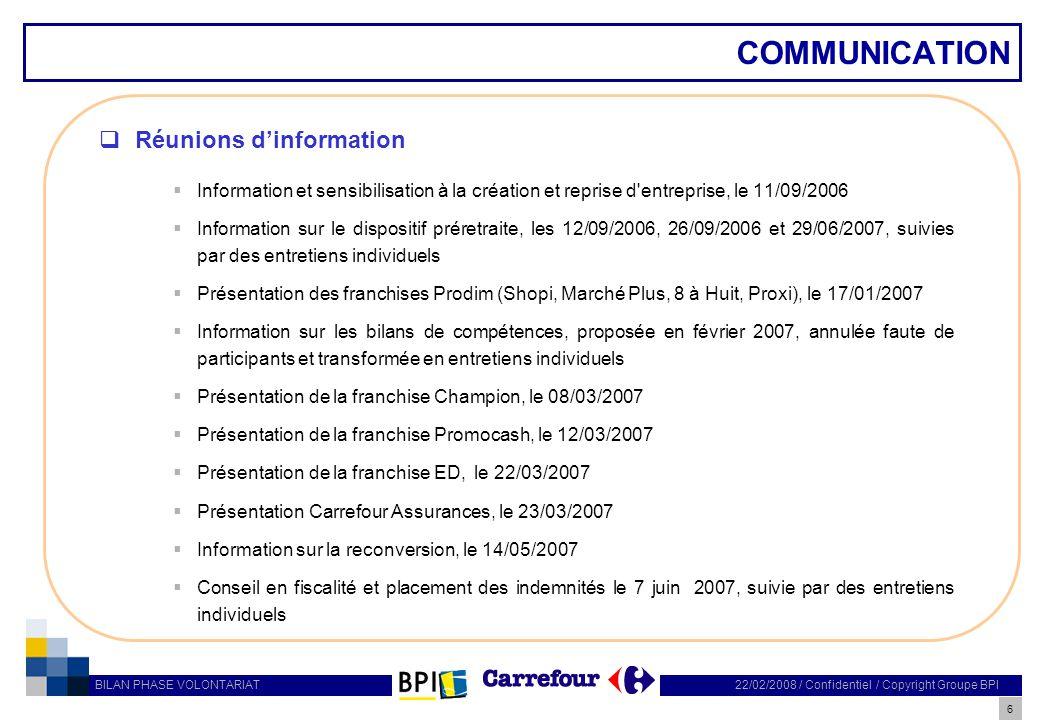 COMMUNICATION Réunions d'information