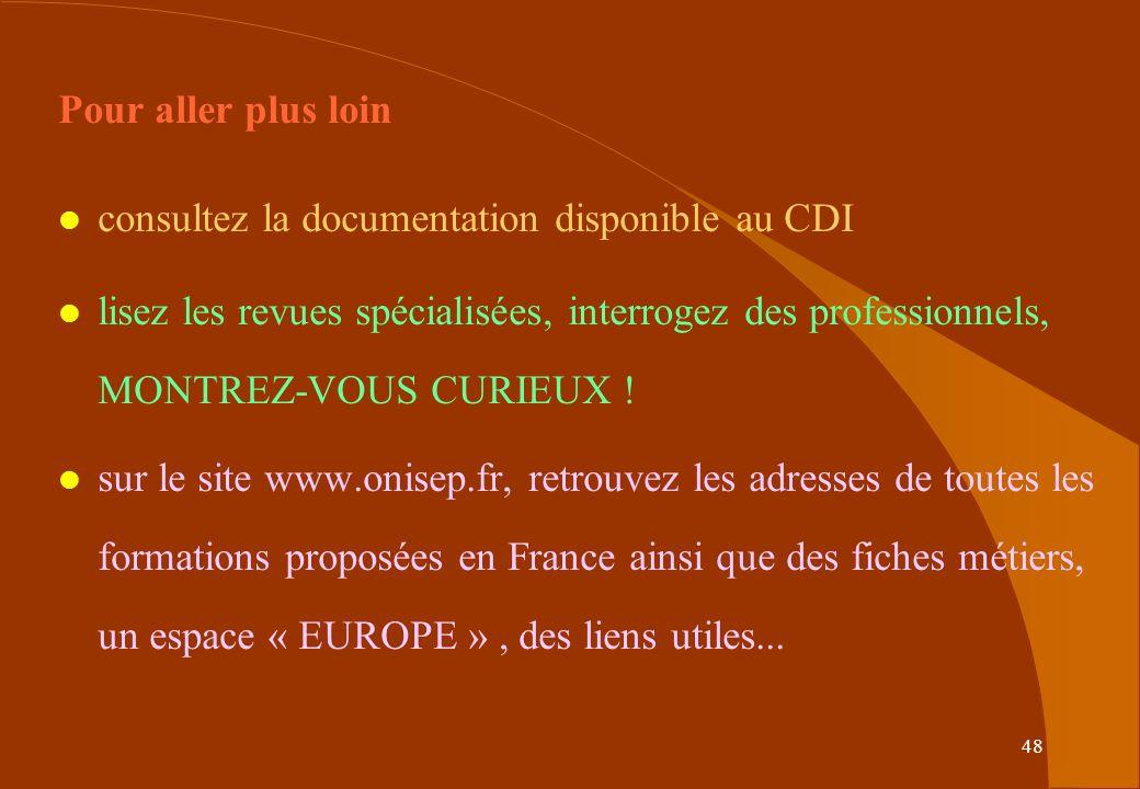 Pour aller plus loin consultez la documentation disponible au CDI.