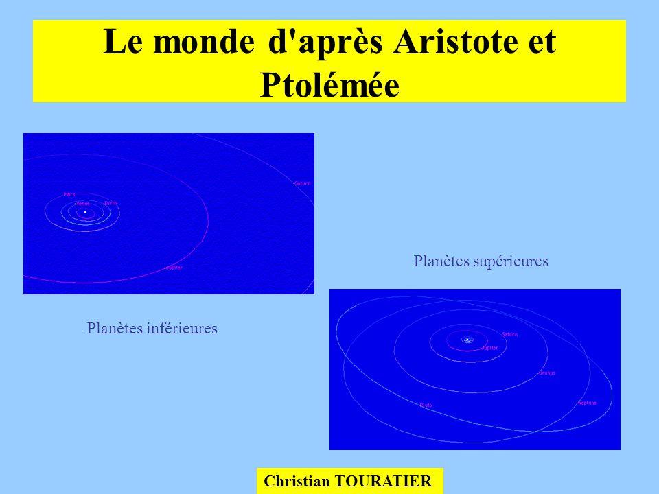 Le monde d après Aristote et Ptolémée