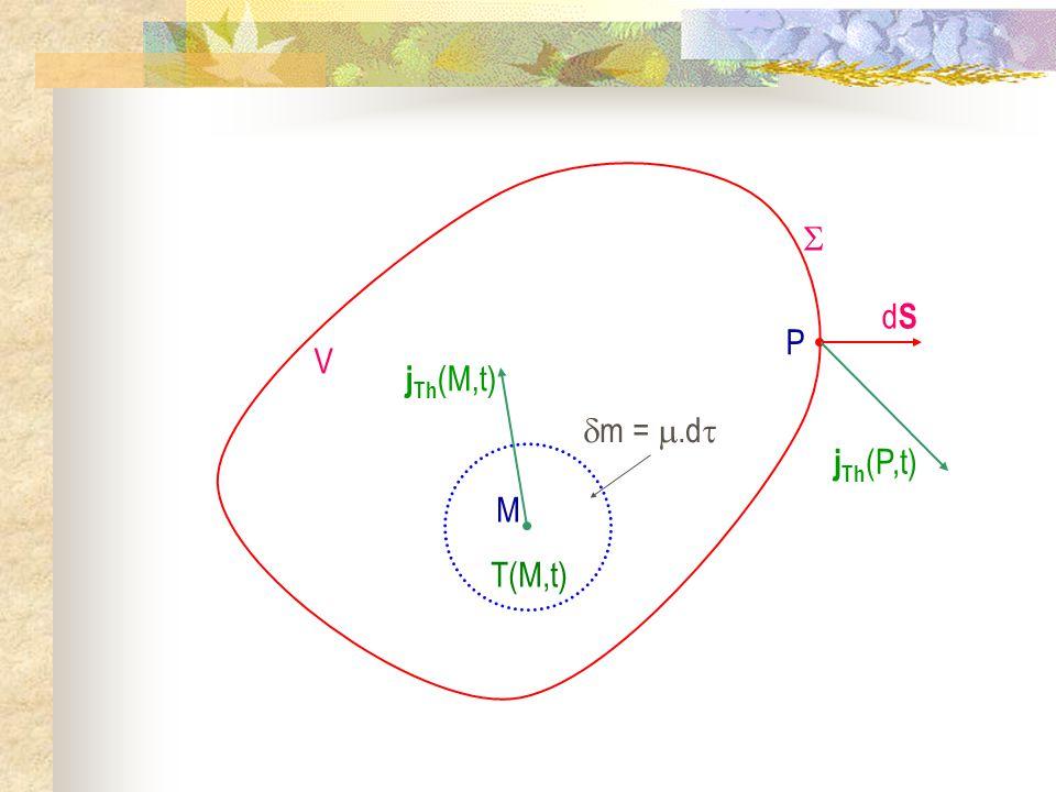 M m = .d jTh(M,t) T(M,t)  V dS P jTh(P,t)